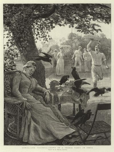 Unwelcome Visitors, Crows at a Tennis Party in India-Robert Barnes-Giclee Print