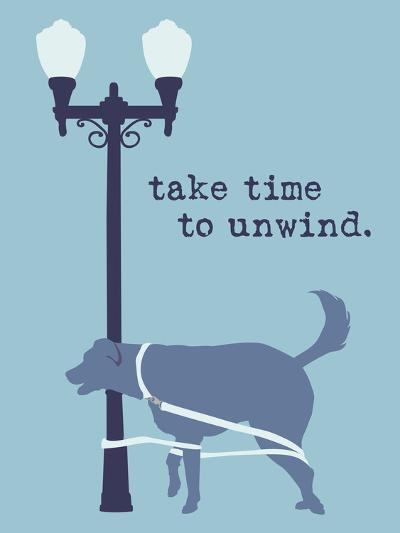 Unwind - Blue Version-Dog is Good-Art Print