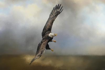 Up Against the Stormy Sea Bald Eagle-Jai Johnson-Giclee Print