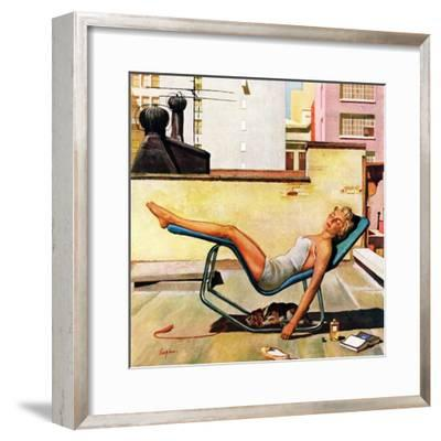 """Up On the Roof"", May 9, 1959-George Hughes-Framed Giclee Print"