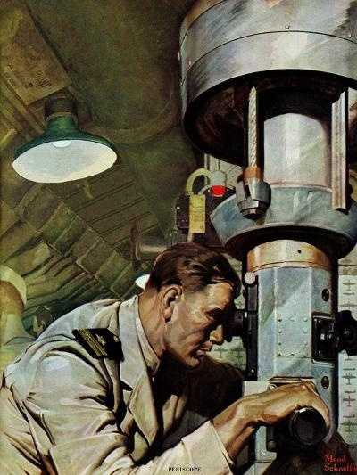 """Up Periscope!,"" April 22, 1944-Mead Schaeffer-Giclee Print"
