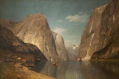 Up the Sogne Fjord, Near Gudangen, 1876-Adelsteen Normann-Giclee Print