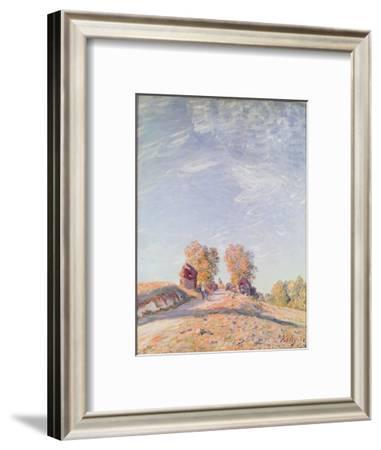 Uphill Road in Sunshine, 1891-Alfred Sisley-Framed Giclee Print