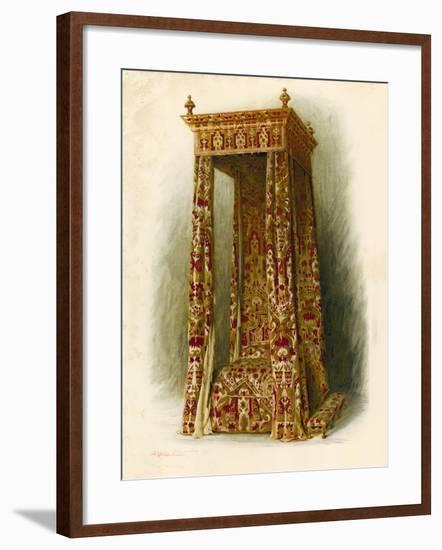 Upholstered Bed, Hampton Court Palace-Shirley Charles Llewellyn Slocombe-Framed Giclee Print