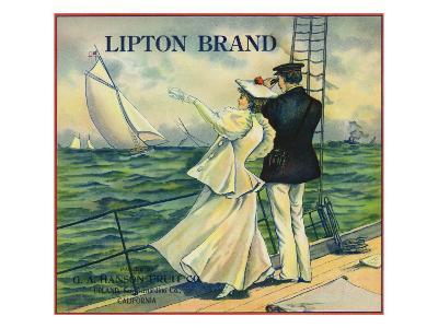Upland, California, Lipton Brand Citrus Label-Lantern Press-Art Print