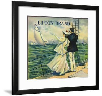 Upland, California, Lipton Brand Citrus Label-Lantern Press-Framed Art Print