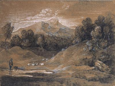 Upland Landscape with Shepherd, Sheep and Cattle, C.1783-Thomas Gainsborough-Giclee Print