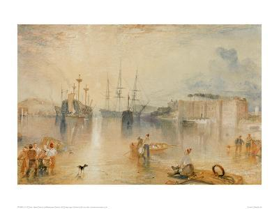 Upnor Castle on the Medway Near Chatham, 1833-J^ M^ W^ Turner-Giclee Print