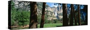 Upper and Lower Yosemite Falls in Spring, California