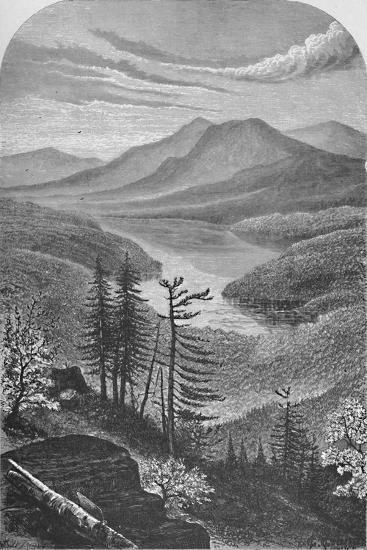 'Upper Ausable Lake', c1870, (1883)-Unknown-Giclee Print