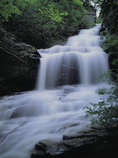 Upper Cascades Falls Flows Down a Mountain in Hanging Rock State Park-Raymond Gehman-Photographic Print