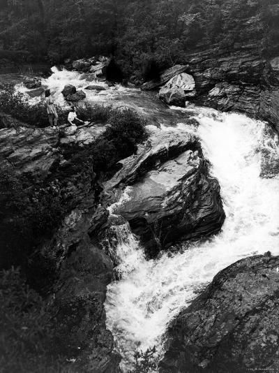 Upper Part of Linville Falls, in the Blue Ridge Mountains--Photographic Print