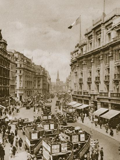 Upper part of Regent's Street, London, c1910s-c1920s(?)-Unknown-Photographic Print