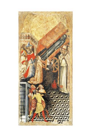 Upper Section, Healing of Sofia, Daughter of Emperor Constantine, at Funeral of Anthony-Vitale da Bologna-Giclee Print