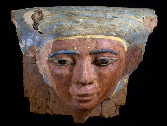 Upper Section of Male Sarcophagus, Polychrome Wood, Ramesside Period--Giclee Print