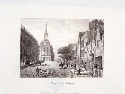 Upper Street, Islington, London, 1819-Augustus Charles Pugin-Giclee Print