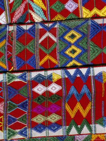 Detail of Local Weaving, Chichicastenango, Guatemala, Central America