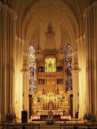Interior of the Purissima Concepcion Church, Madrid, Spain