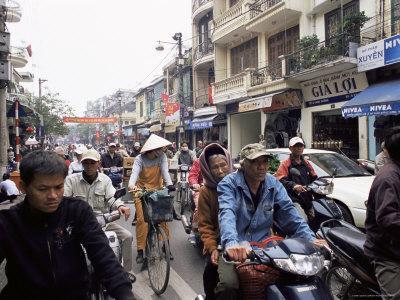 Busy Street, Hanoi, Vietnam, Indochina, Southeast Asia, Asia