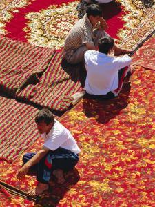 Carpet Market, Tashkent, Uzbekistan, Central Asia by Upperhall Ltd