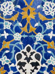 Ceramic Detail on Mir-I-Arab Madressa (Madrasa), Bukhara, Uzbekistan, Central Asia by Upperhall Ltd