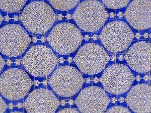 Ceramic Tiles, I-Khauli Court, Tash Khauli Palace, Khiva, Uzbekistan, Central Asia by Upperhall Ltd