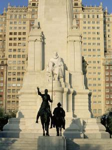 Cervantes Monument, Madrid, Spain, Europe by Upperhall Ltd