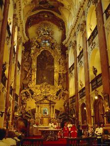 Church of St.Kames, Nave, Prague, Czech Republic, Europe by Upperhall Ltd