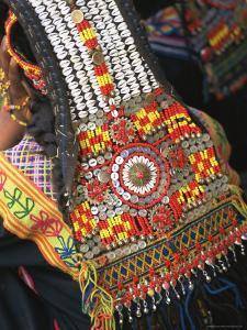 Close-up of a Woman's Headdress, Kalash Ku'Pa, Joshi (Spring Festival), Bumburet Valley, Pakistan by Upperhall Ltd