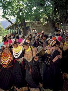 Kalash Women, Rites of Spring, Joshi, Bumburet Valley, Pakistan, Asia by Upperhall Ltd