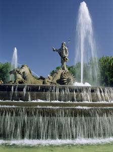 Neptune Fountain, Near Prado, Madrid, Spain, Europe by Upperhall Ltd