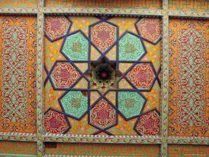 Painted Ceiling, Tash Khauli Palace, Khiva, Uzbekistan, Central Asia by Upperhall Ltd