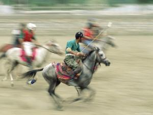 Polo Players in the Birthplace of Polo, Chitral, Pakistan, Asia by Upperhall Ltd