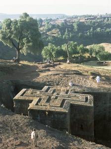 Sunken, Rock-Hewn Christian Church, in Rural Landscape, Unesco World Heritage Site, Ethiopia by Upperhall Ltd