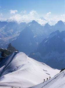 View from Mont Blanc Towards Grandes Jorasses, French Alpes, France by Upperhall Ltd