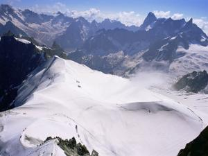 View from Mont Blanc Towards Grandes Jorasses, French Alps, France by Upperhall Ltd