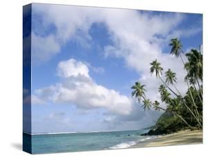 Palm Trees and Sea, Lalomanu Beach, Upolu Island, Western Samoa by Upperhall
