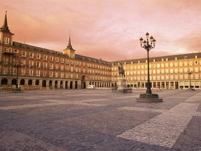 Plaza Mayor from the East, Madrid, Spain
