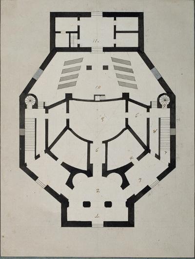 Upstairs Floor Plan-Giacomo Antonio Domenico Quarenghi-Giclee Print