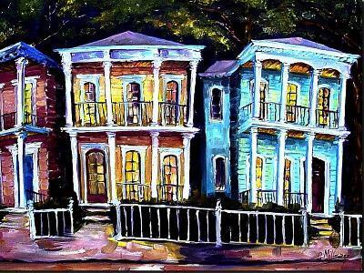 Uptown Fancy - New Orleans-Diane Millsap-Art Print