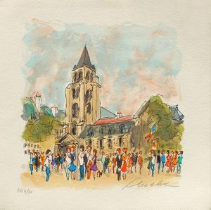 Paris, L'ÉgIIse Saint Germain Des Prés by Urbain Huchet