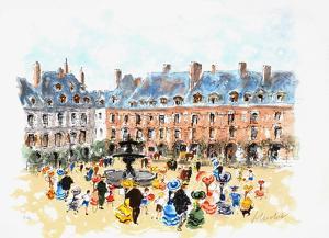 Paris, La Place des Vosges by Urbain Huchet