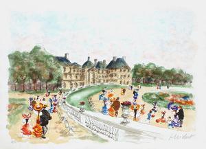 Paris, le jardin du Luxembourg II by Urbain Huchet