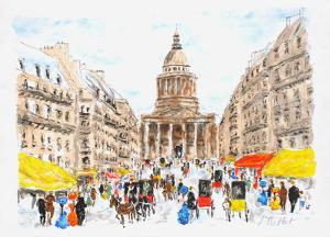 Paris, le Panthéon II by Urbain Huchet