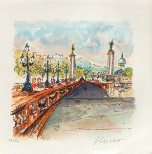 Paris, Le Pont Alexandre III by Urbain Huchet
