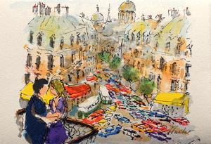 Paris, Les Boulevards by Urbain Huchet