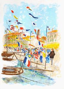Voiliers a Saint-Tropez by Urbain Huchet