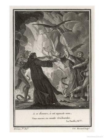 Priest is Assailed by Demons