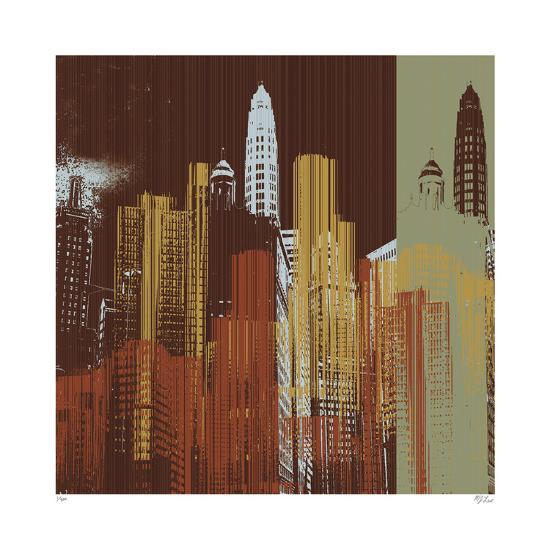 Urban Colors IV-Mj Lew-Giclee Print