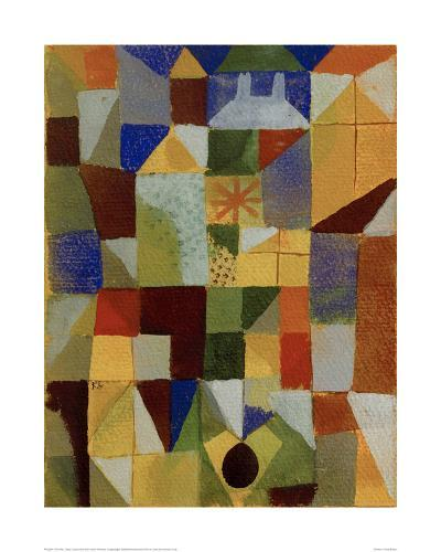 Urban Composition with Yellow Windows-Paul Klee-Giclee Print